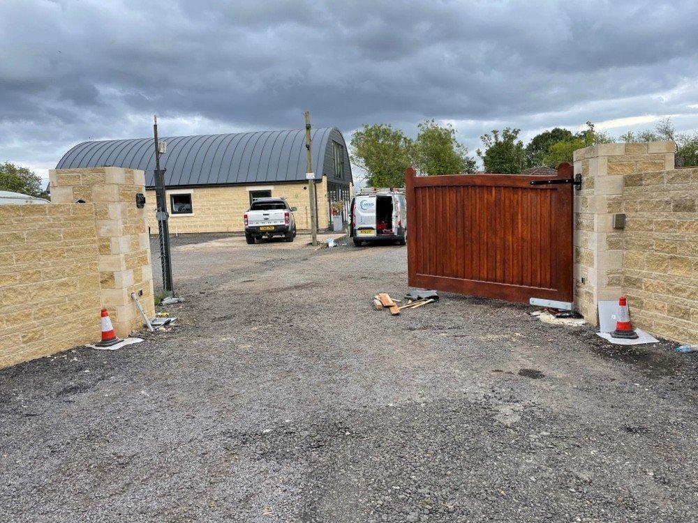 Wood Electric Gate JBSS UK